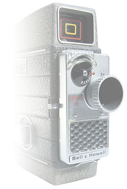 Bell & Howell 8mm wind-up camera